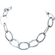 .999 Fine Silver Large Link Necklace