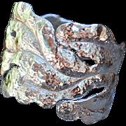 .960%  Pure Silver Handmade Leaf Bangle