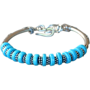 Sterling Silver .925 Campitos Turquoise Bracelet