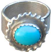 .999 Fine Silver Turquoise Ring
