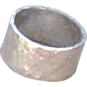 Simply Beautiful, Handmade .975 Pure Silver Hammered Ring