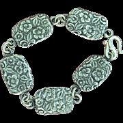 SALE Fine Silver Forget-Me-Not Concho Bracelet