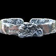 Fine Silver Angel on a Motorcycle Bracelet