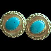 SOLD 22K Gold over Silver Goddess Earrings (clip-on)