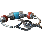 Nepalese Repousse Pendant Bracelet