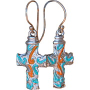 Chimayo Small Cross Earrings