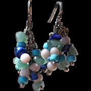 Swingy beaded earrings