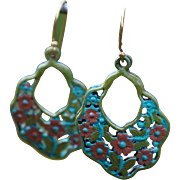 Chimayo Butterfly & Flower Earrings