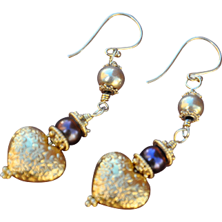 SALE Hearts and Pearls forever classic earrings