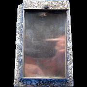 SALE Antique Schiebler Desk Memo Holder with Blown Out Mums