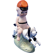 AMAZING Kewpie Riding a Dog
