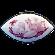 Antique Porcelain Trinket Box Hand Painted