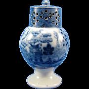 ANTIQUE RARE Staffordshire Blue Floral Pepper Pot Mint Condition Ca. 1825