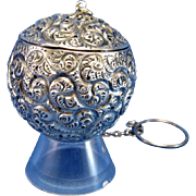 Antique Heavy Swirl Design Tea Ball TEABALL Strainer, with Swirls