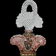Very Large Schmidt Czech Jeweled Perfume Bottle