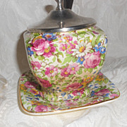 Royal Winton Jam or other Condiment Jar  Summertime Pattern