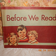 BEFORE WE READ 1946-47 Scott, Foresman Co.  Pre-Reader Workbook