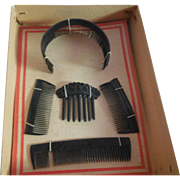 Boxed Set of French Fashion Doll Combs