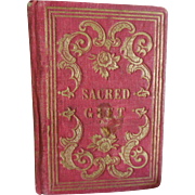 SOLD Small Red Cover Prayer Book SACRED GIFT