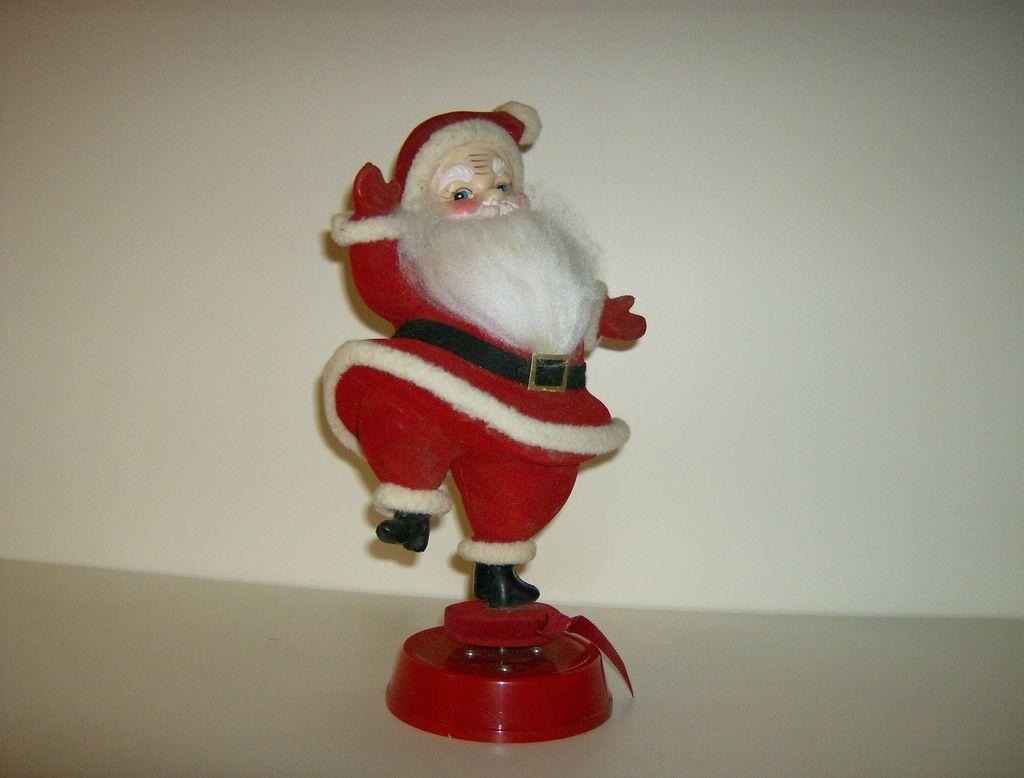 Spinning Santa Music Box ~ 1960's ~ Jingle Bells