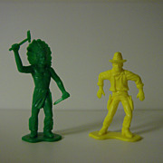 Tim-Mee Toys ~ Cowboy & Indian ~ 1960's