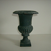 Vintage Cast Iron Urn Planter