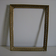 Ornate Picture Frame ~ Open Floral ~ Metal