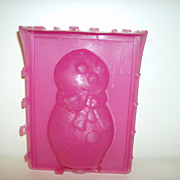 Snap-It  Plastic ~ Candle Mold ~ Snowman