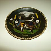 Skane ~ Hand Painted Plate ~  Dancing Couple