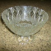 Cut Glass Pedestal Bowl Pineapple & Stars -  France