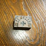Printer's Block Red Cross