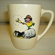 New Devon Pottery Hand painted Cartoon Mug