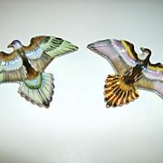 Shafford Hand Painted Bird Wall Plates