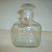 Cut Glass Perfume Bottle ~ Owens-Illinois Glass Co.