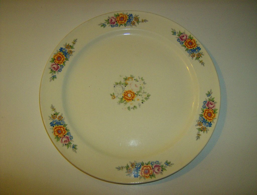 Edwin M. Knowles Dinner Plate ~ 1930's