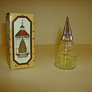 Avon Christmas Tree Cologne Bottle
