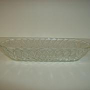 Indiana Glass Celery Dish - Pretzel Pattern #622