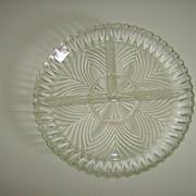Indiana Glass Pressed Glass 3 Part Relish Dish