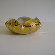 Dixon Art Studios 22 Kt Weeping Gold Candy Bowl