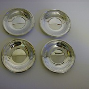 Silver Plate Coasters ~ Set of 4
