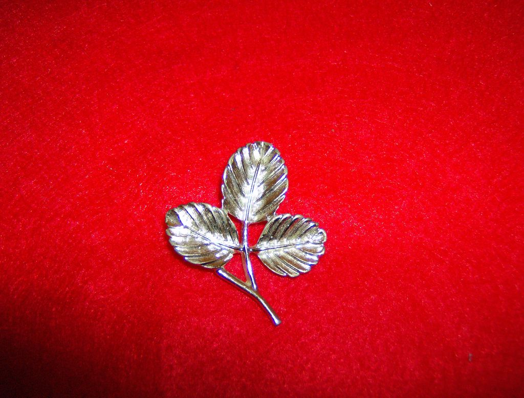 Sarah Coventry  Silvertone  Leaf Pin