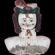 RARE Prosopotrope 4 Face Doll Head 1866 Mfg by Ozias Morse Acton Mass