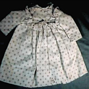 Lovely Antique White and Black Calico Print Doll Dress