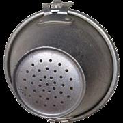 Vintage Toy Miniature German Kitchen Aluminum Colander