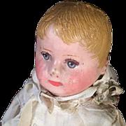 "Rare Size 12"" Martha Chase Cloth Doll Lovely Face Blue Eyes Blond Hair"