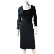 1960's Vintage Little Black Jersey Dress
