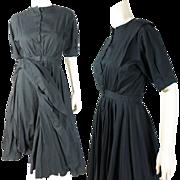 Rare Circa 1910 Antique Edwardian Two Piece Black Cotton Women's Cycling Suit