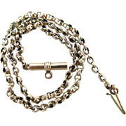Antique Victorian 14K Gold Chain Necklace With Bail Clasp