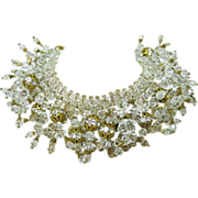 Extraordinary Vintage Lucite And Rhinestone Couture Runway Necklace ON LAYAWAY