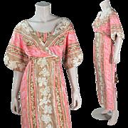 1970's Hawaiian Dress With Liberty House By Nani Label
